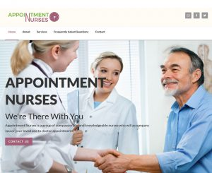 Appointment Nurses Website Screenshot
