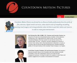 Countdown Motion Pictures Website Screenshot