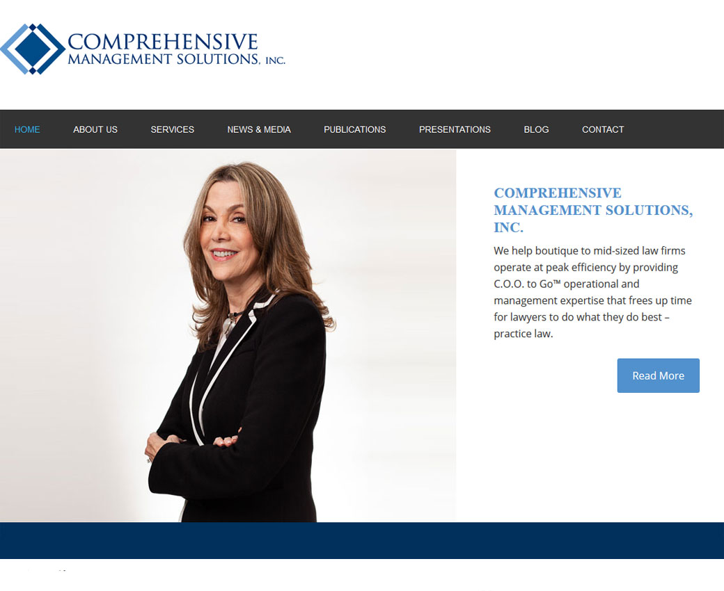 Comprehensive Management Solutions Website Screenshot