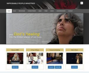 Improbable People Ministries - Sally Klein O'Connor Website Screenshot