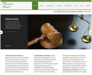 Monrovia Trust Website Screenshot