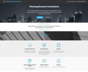 Planning Research Consultants - Russell Fricano Website Screenshot