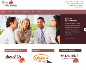 Rose City Realty, Inc Pasadena, CA Website Screenshot