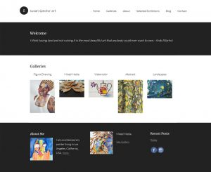 Susan Spector Art Website Screenshot