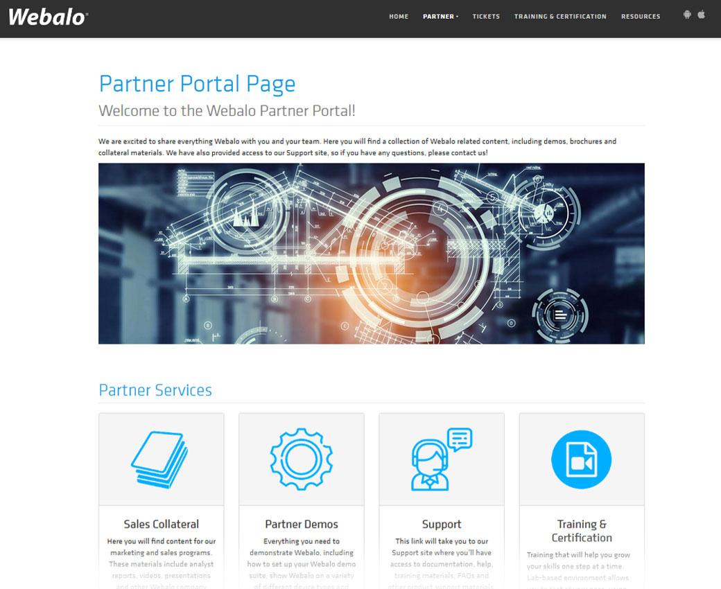 Webalo Partner Support Portal
