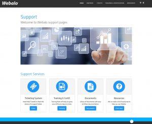 Webalo, Inc - Support Site Website Screenshot