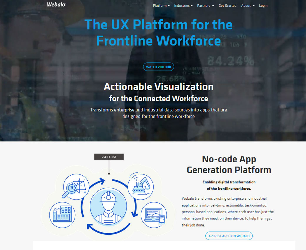 Webalo - No-code App generation Platform